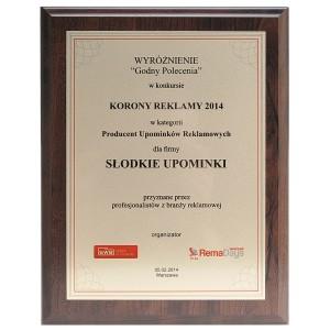 Wyróżnienie w konkursie Korony Reklamy 2014