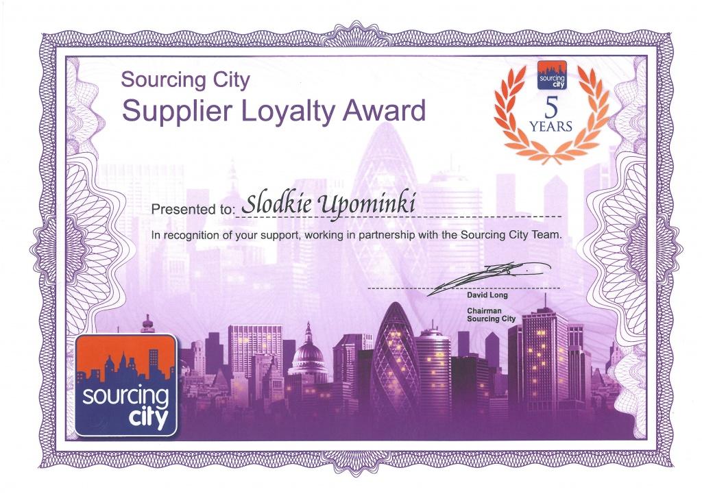 Supplier Loyalty Award dla Słodkie Upominki