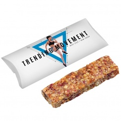 Muesli cereal bar with strawberry/cranberry/nuts