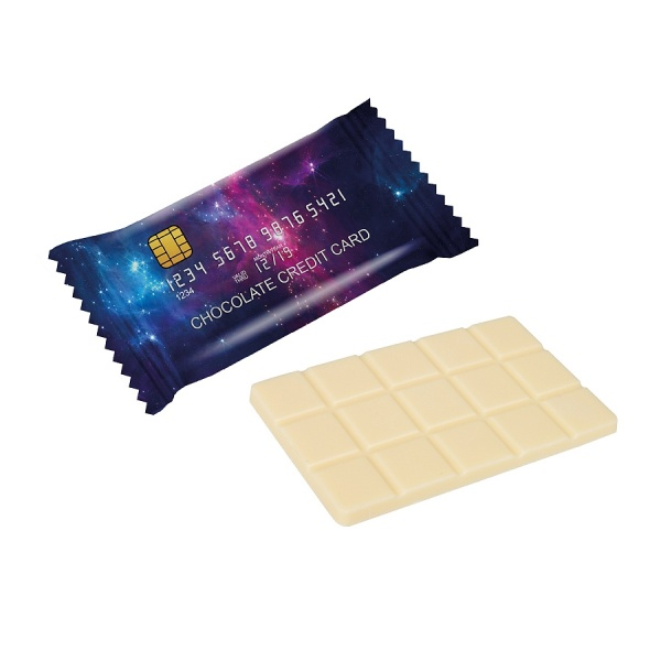 CHOCOLATE CARD 20 G - FLOW PACK