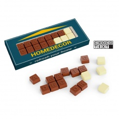 CHOCO TEXT TWO LINES SEPARATE