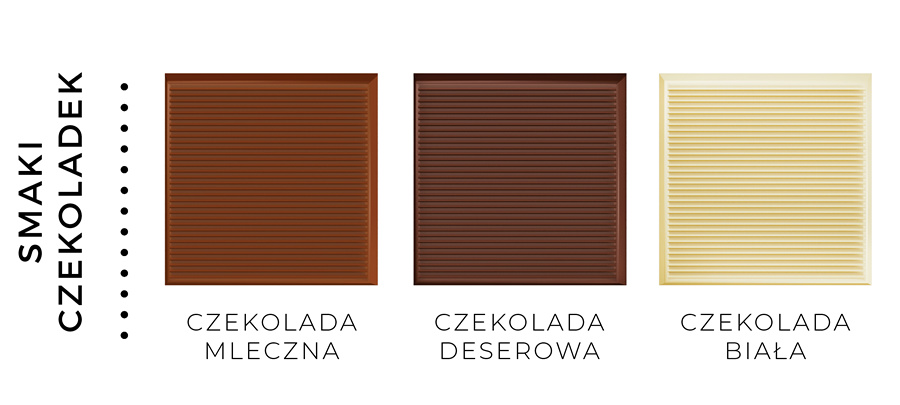 smaki czekoladek kwadratowych