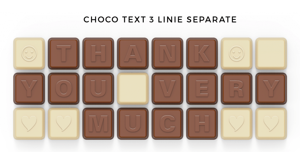 CHOCO TEXT 3 LINIE W KOPERCIE SEPARATE