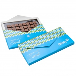 CHOCO TEXT 3 LINES IN ENVELOPE