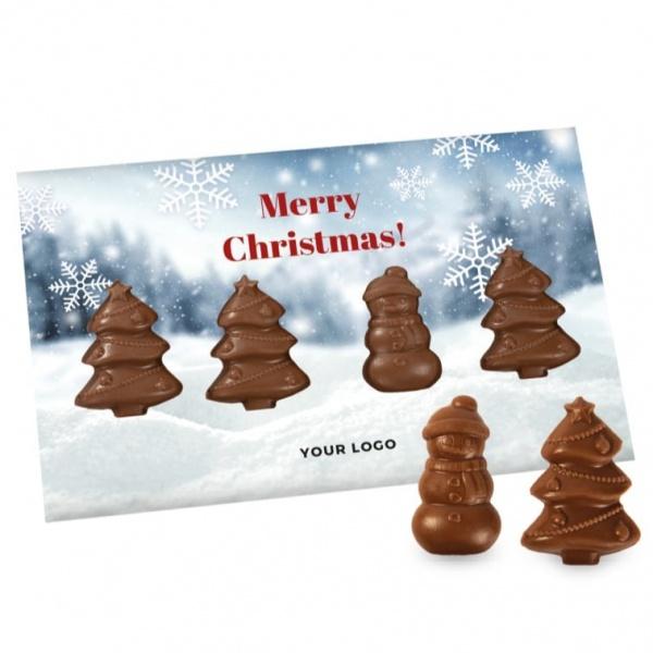 Świąteczna Kartka z Choinkami