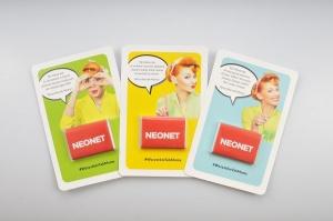 Promo Card z Mini Tabliczką w kampanii marketingowej Neonet!