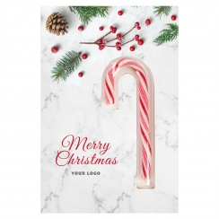 CHRISTMAS CARD WITH CANDY CANE