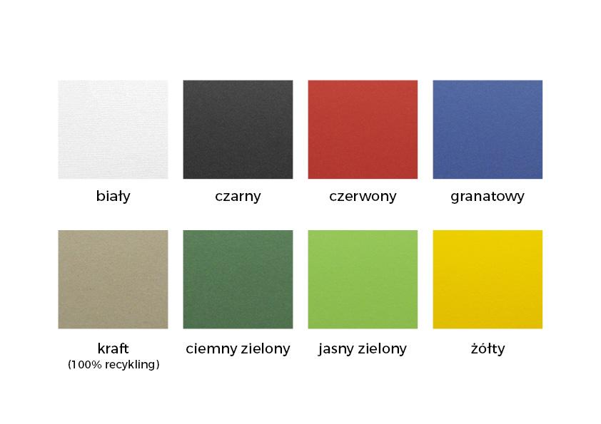 Kolory papieru do wyboru
