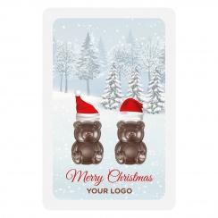 PROMO CARD TWO TEDDY BEARS
